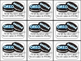 Oreo Beginning of Year Gift Tag- Oreo excited for the new school year?