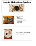 Oreo Cookie Spider - Step-by-Step Craft Project