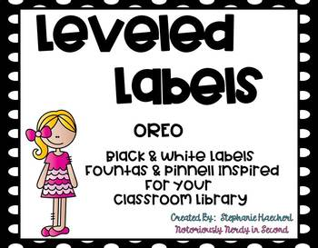 Oreo Leveled Letter Labels (Fountas & Pinnell Inspired) for Class Library