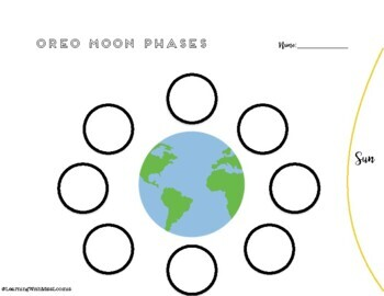 oreo moon phases diagram by learning with miss loomis tpt. Black Bedroom Furniture Sets. Home Design Ideas