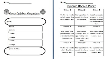 Oreo Opinion Resources- Persuasive
