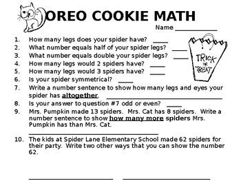 Oreo Spider Math