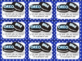 Oreo Testing Motivation Treat Tags (Oreo glad to be done with the testing)