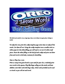 Oreo Two Letter Word Building Game