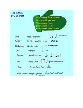 """Orff Accompaniment for """"The Mitten"""" - Alternate Format"""