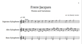 """Orff Arrangement - Theme and Variations on """"Frere Jacques"""""""