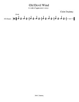 Orff Arrangement and Lesson Plan for Old Devil Wind