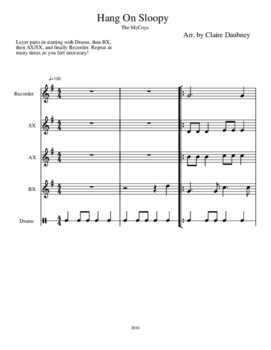 Orff Arrangement for Hang On Sloopy