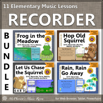 Orff Arrangements & Elementary Music Lessons for Soprano Recorder {BUNDLE}