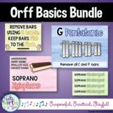 Orff Basics Bundle--Instrument Posters, Labels, Printable
