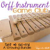 Orff Instrument Game Club, so-mi/sol-mi {A Bundled Set}
