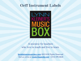Orff Instrument Labels