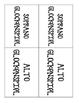 Orff Instrument Labels