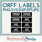 Orff Instrument Labels SVG - PNG - JPG - DXF - EPS cutting files
