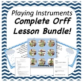 Complete Orff Music Lesson - I Don't Care if the Rain Comes Down