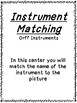 Orff Instrument Matching Cards
