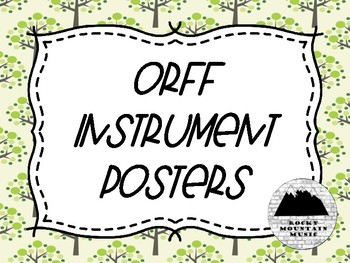 Orff Instrument Posters