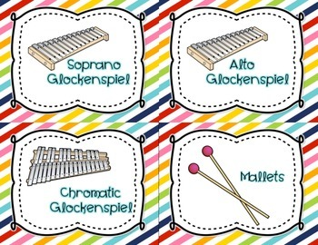 Orff Instrument Posters and Labels