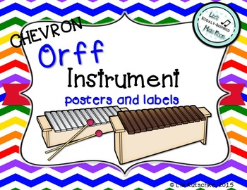 Orff Instrument Posters and Labels: Chevron