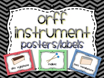 Orff Instrument Posters and/or Labels
