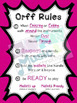 Orff Instrument Rules Poster