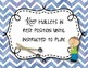 Orff Instrument Rules Posters - Blue Watercolor Chevron