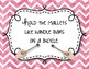 Orff Instrument Rules Posters - Pink Watercolor Chevron