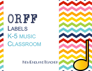 Orff Labels for Elementary Music Classroom Decor or Bulletin Board Chevron