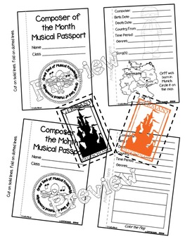 Orff Passport (Composer of the Month)