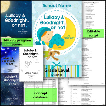 Orff Schulwerk Musical Program - Lullaby & Goodnight…or Not! {Bundle}