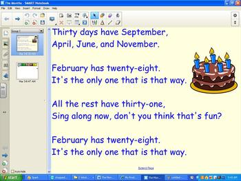 Orff Schulwerk SMART Board lesson - The Months (Orff)