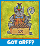 Orff poster, music poster, xylophone, cat playing xylophon