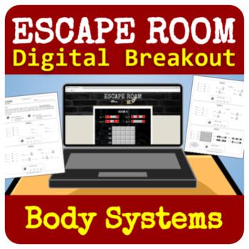 Organ Systems Escape Room - Digital Breakout - No Prep