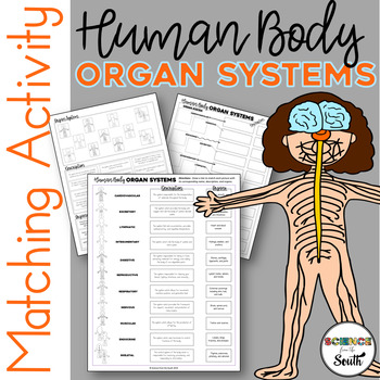 Organ Systems Overview Cut and Paste Matching Activity