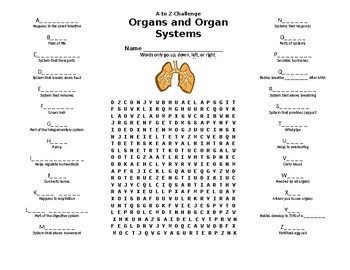 Organ Systems Puzzle