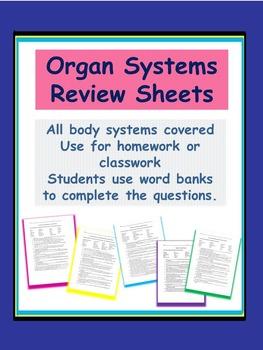 Organ Systems Review Sheets