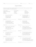 Organelle Riddles Worksheet with Key