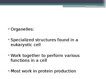Organelle Structure and Function Presentation