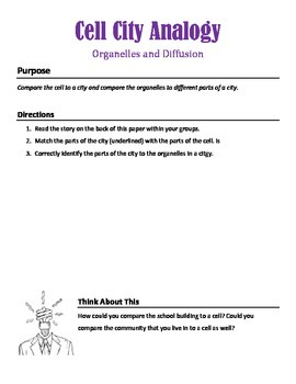 Organelle and Diffusion Stations Activity