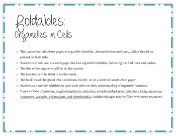 Organelles Foldables