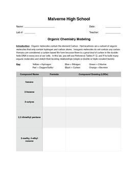 Organic Chem Modeling