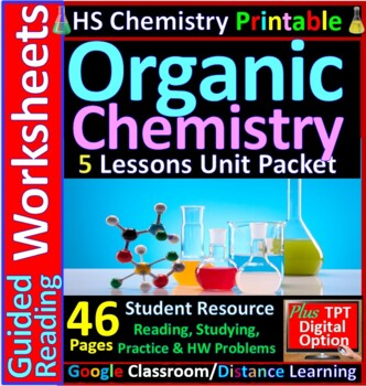 Organic Chemistry 5-Product Bundle: HS Chemistry Notes, Wo