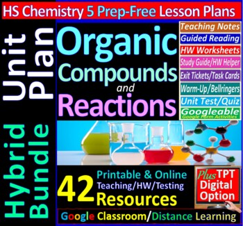 Organic Chemistry - Engaging & Easy-to-learn Guided Study notes for HS Chemistry