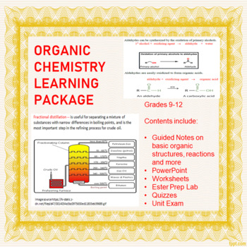 Organic Chemistry Learning Package
