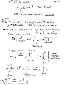 Organic Chemistry Notes - Second Semester