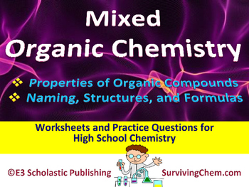 Organic Chemistry Mixed Questions - Worksheets & Practice Questions HS Chem