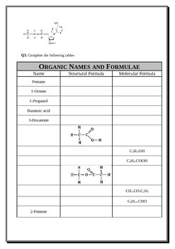 Organic Chemistry Part B - Functional Groups