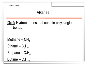 Organic Chemistry Power Point