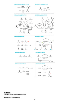 Organic Chemistry Quick Review Facts and Handout