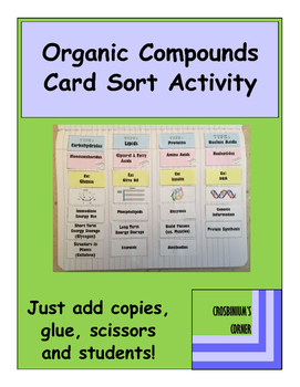 Organic Compound Card Sort